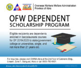ONLINE APPLICATION for OWWA SCHOLARSHIP is now OPEN!!